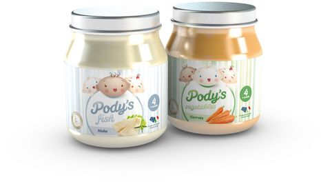 Pody's Fish & Pody's Vegetables homogenized