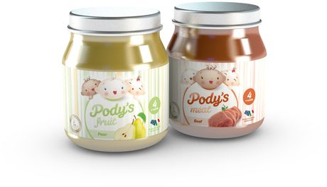Pody's Fruit & Pody's Meat homogenized