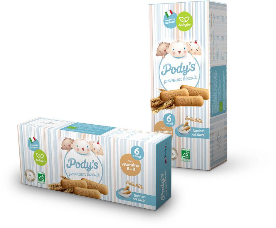 Biscotti Pody's Biscuit biologici in scatola da 180 g (4x45g)